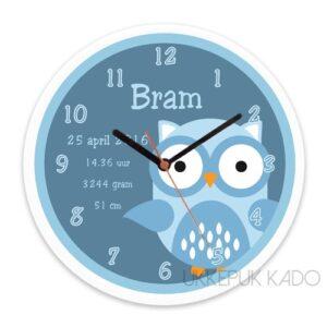 geboorteklok met naam, klok met naam, klok met geboortedatum, standaard klok