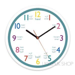 anologe-klok-oefenen-leren-klokkijken-groen