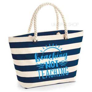 bedankt-juf-tas-strand-vakantie-beach-afscheid-schooljaar-einde-basisschool-leerkracht-juffen-lerares-leerkracht-blauw-light-blue
