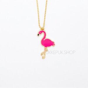 flamingo-flamingos-ketting-kettingen-meisje-meisjes-girl-girls-sieraden-sieraad-hanger-kinderketting-kinderkettingen-hanger-hangers-goud