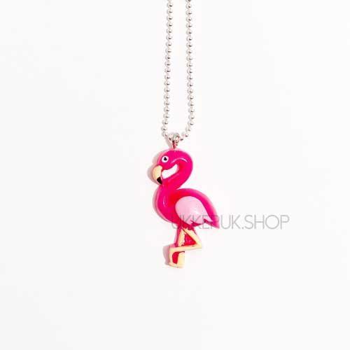 flamingo-flamingos-ketting-kettingen-meisje-meisjes-girl-girls-sieraden-sieraad-hanger-kinderketting-kinderkettingen-hanger-hangers-zilver