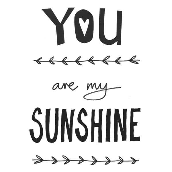 Kaart You Are My Sunshine Ukkepukshop