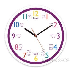 klok-om-te-leren-klokkijken-oefenen-klok-kijken-paars