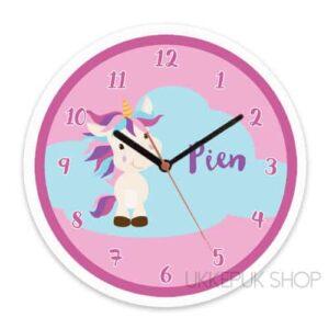 unicorn-klok-eenhoorn-naam-roze-paars-blauw