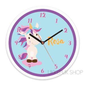 eenhoorn-klok-unicorn-roze-paars-blauw