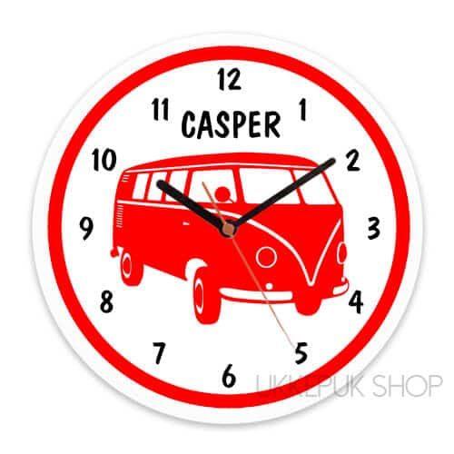 klok-vw-bus-t1-volkswagen-camper-t2-retro-rood-jongen
