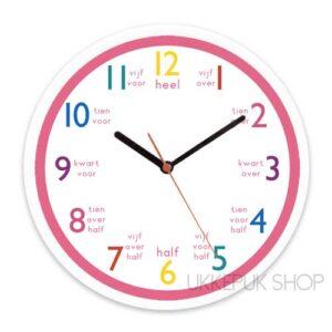 leren-klokkijken-oefeningen-klok-lezen-kijken-school-groep-4-roze