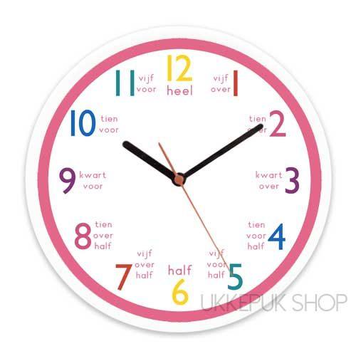 Uitgelezene Leren klokkijken met deze prachtige klok voor thuis of op school! AY-48