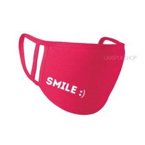 mondkapje-mondmasker-mondkap-bedrukt-smile-glimlach-roze