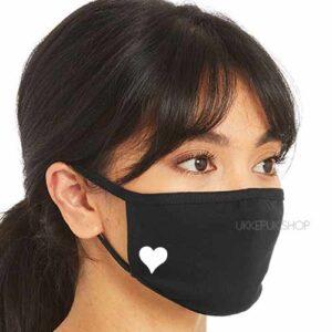 mondmasker-mondkapje-mondkap-opdruk-hart-hartje-zwart