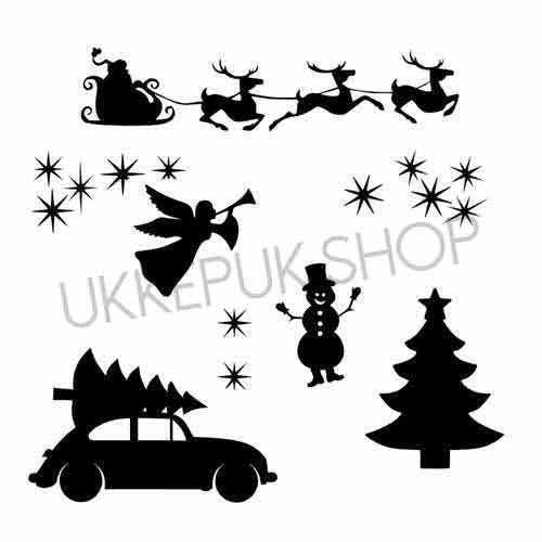 raamfolie-winter-kerst-christmas-kerstmis-xmass-xmas-kerstboom-sneeuwpop-engel-angel-rendier-santa-santaclaus-vliegen-sterren-stars-auto-car-christmastree