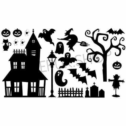 raamsticker-raamstickers-huizen-straat-straatje-statisch-herbruikbaar-raamfolie-halloween