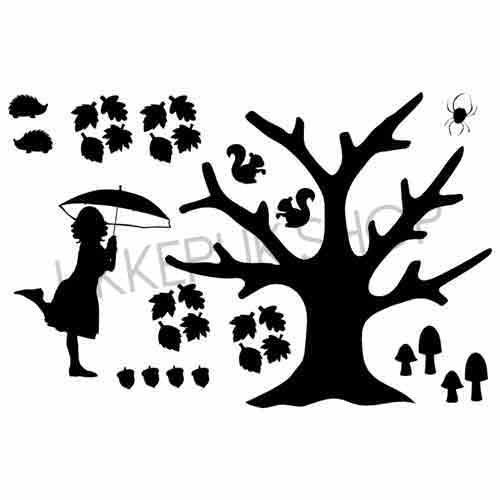 raamsticker-raamstickers-huizen-straat-straatje-statisch-herbruikbaar-raamfolie-herfst-autumn-bomen-tree-boom-egel-spin-spider-leaves-bladeren-school-juf