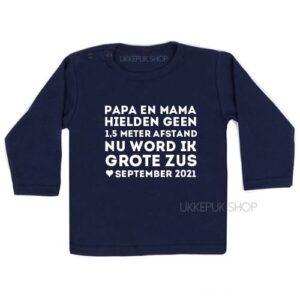 shirt-anderhalve-meter-1-afstand-corona-baby-coronababy-grote-zus-zwanger-zwangerschapsshirt-zwangeraankondiging-blauw