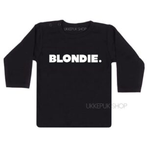 shirt-baby-kind-blondie-woord-zwart
