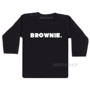 shirt-baby-kind-brownie-woord-zwart
