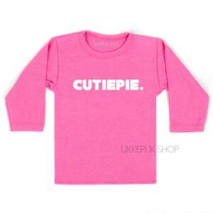 shirt-baby-kind-cutiepie-woord-roze