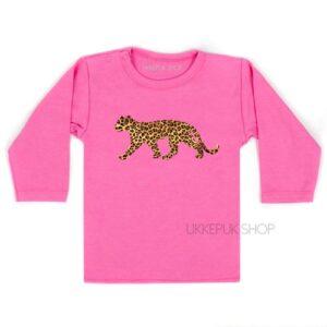 shirt-baby-kind-luipaard-leopard-panter-panther-dessin-opdruk-roze
