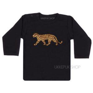 shirt-baby-kind-luipaard-leopard-panter-panther-dessin-opdruk-zwart