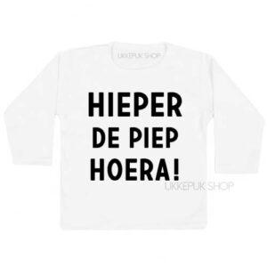 shirt-eerste-tweede-verjaardag-hieperdepiep-hoera-hieper-de-piep-jarig-feest-kleuter-peuter-wit
