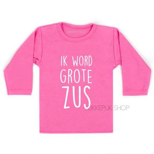 Uitzonderlijk Shirt Ik word grote zus - Ukkepuk.shop &SA89