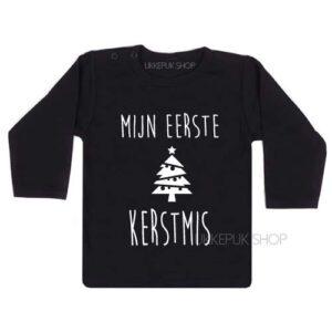 shirt-kerst-kerstmis-feestdagen-december-kerstfeest-peuter-kleuter-kind-mijn-eerste-kerst-zwart