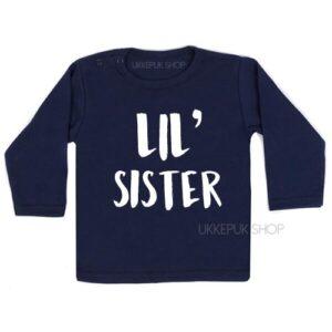 shirt-little-sister-kleine-zus-zwanger-blauw