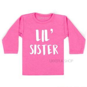 shirt-little-sister-kleine-zus-zwanger-roze