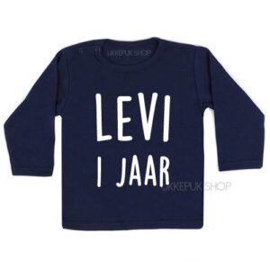 shirt-naam-1-jaar-eerste-verjaardag-verjaardagsshirt-shirt-feest-hoera-blauw