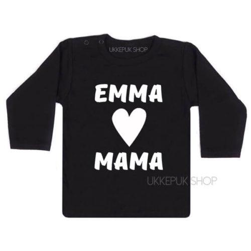 shirt-naam-hartje-mama-zwart