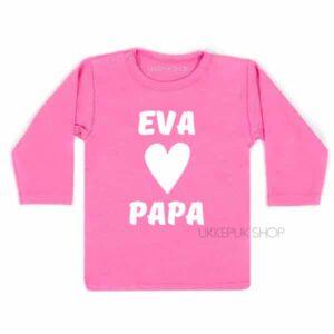 shirt-naam-hartje-papa-roze