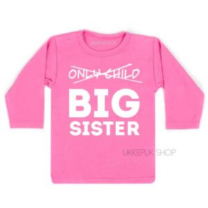 shirt-roze-pink-only-child-big-sister-voorkant