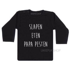 shirt-slapen-eten-papa-pesten-zwart