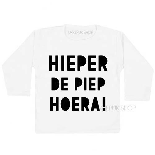 shirt-verjaardag-hieperdepiep-hoera-hieper-de-piep-jarig-feest-kleuter-peuter-wit