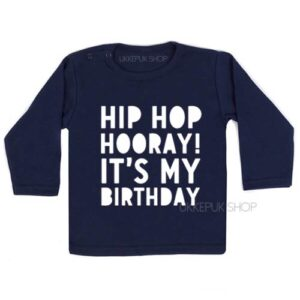 shirt-verjaardag-hip-hop-hooray-birthday-kleuter-jarig-feest-kinderfeest-blauw