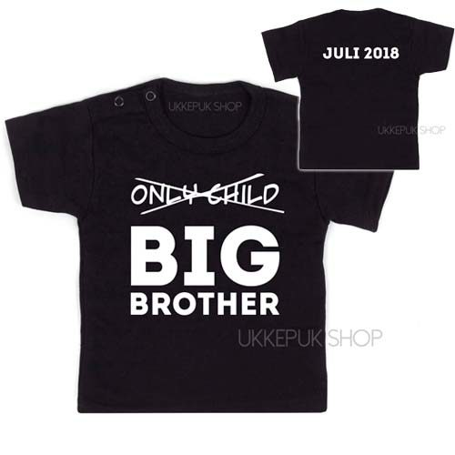 shirt-zwart-only-child-big-brother-voorkant-achterkant