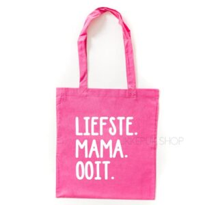 tas-shopper-winkelen-shop-boodschappen-mama-moederdag-moeder-mam-liefste-mama-ooit-roze