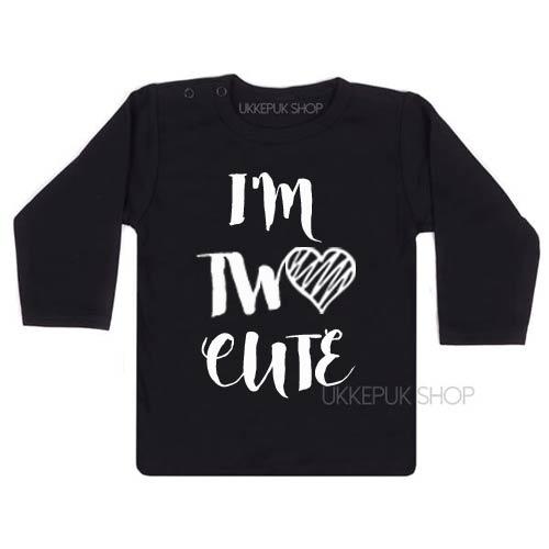 verjaardag-shirt-twee-two-cute-jarig-kind-peuter-jaar-birthday-verjaardagsshirt-feest-zwart