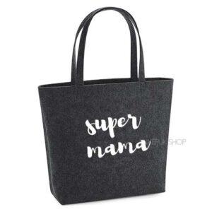 vilten-tas-bedrukt-super-mama-big-shopper-boodschappen-boodschappentas-donkergrijs