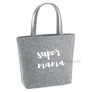 vilten-tas-bedrukt-super-mama-big-shopper-boodschappen-boodschappentas-lichtgrijs